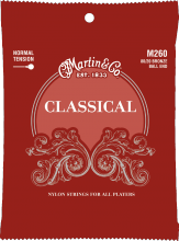 Martin M260 Classical silverplated ball end snaren