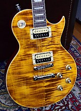 Vintage V100AFD Les Paul Flamed Amber Paradise Slash