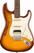 Fender Rarities Stratocaster Thinline HSS Violin Burst