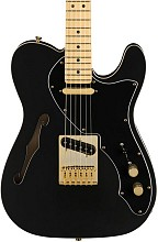 Fender LTD Deluxe Telecaster Thinline MN Satin Black