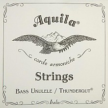 Aquila Bass ukulele Thundergut strings