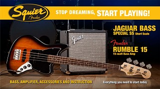 Squier PK Jag Bass short scale pakket
