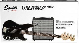 Squier Affinity Series PJ Bass Pack Black