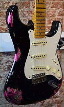 Fender Custom shop 57 Heavy Relic Stratocaster Black over Paisley