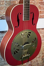 Gretsch G9241 Alligator Biscuit Roundneck Chieftain red