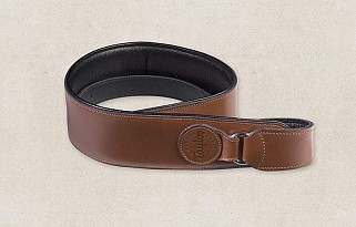 Taylor lederen Badge strap Tan