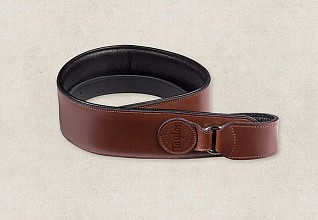 Taylor lederen Badge strap Brown