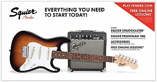 Squier Affinity Strat Pack SS Short-Scale BSB