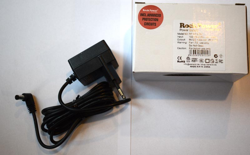 Warwick RockPower adapter 9 volt
