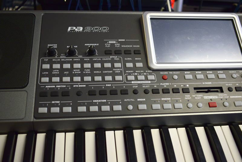 Korg PA900 keyboard shop demo
