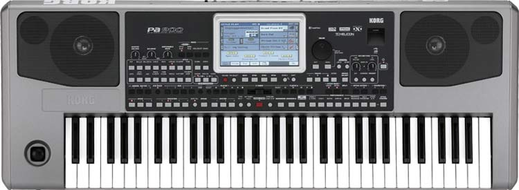 Korg PA900 keyboard display