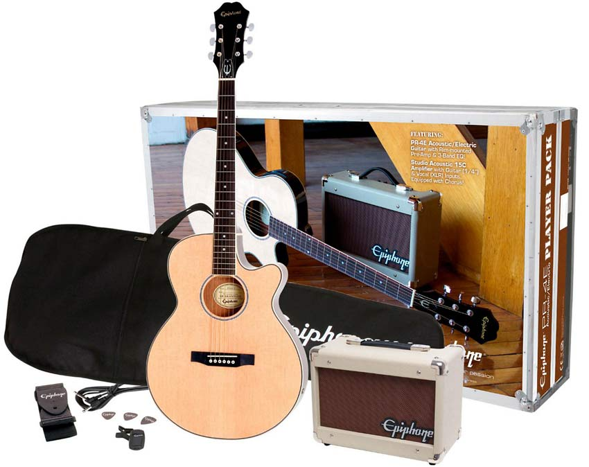 Epiphone PR4E Acoustic-Electric Guitar Player Pack