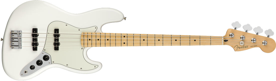 Fender Player Jazz Bass MN Polar White